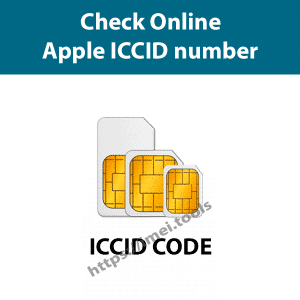 Check Apple ICCID number