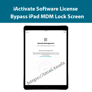 Bypass iPad MDM lock Screen