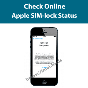 Check iPhone SIM lock status
