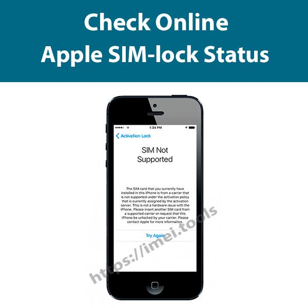 Check iPhone SIM lock status